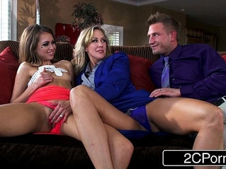 Little Slut Riley Reid Joins Married Swinger Couple with Big Tit Brandi Love