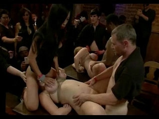Busty bitch gets her mouth and pussy destroyed in total destruction bondage sex