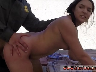 Police man fuck mom and big tit brunette cop Mexican border patrols